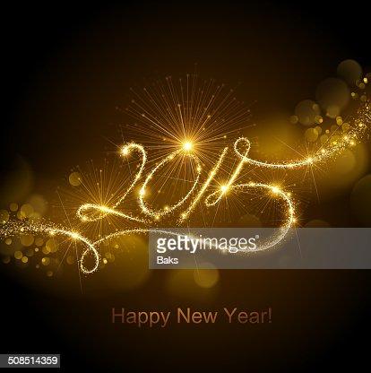 Fuegos artificiales de año nuevo 2015 : Arte vectorial
