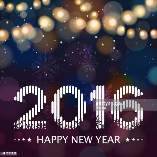 Nouvelle année 2016 winternight arrière-plan