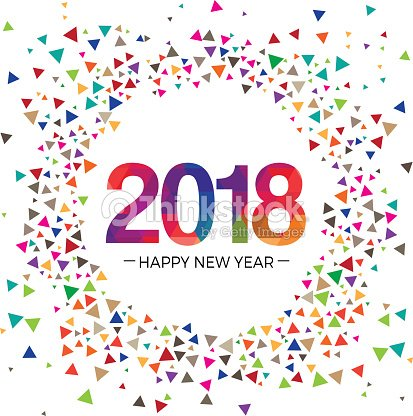 2018 new year celebration greeting vector illustration design template vector art