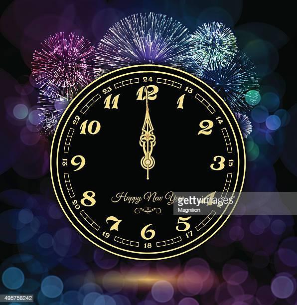 réveil et feux d'artifice du Nouvel An
