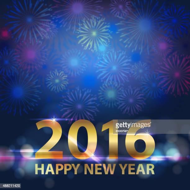 2016 feu d'artifice pour le Nouvel An
