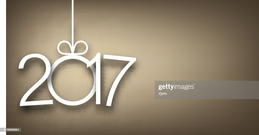 2017 New Year gray background. : Vector Art