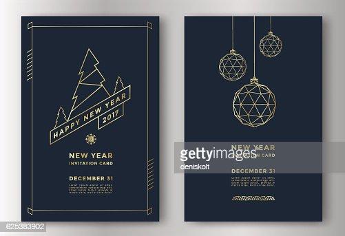 Neujahr Grußkarte : Vektorgrafik