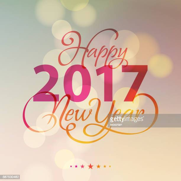 New Year Lighting Background 2017