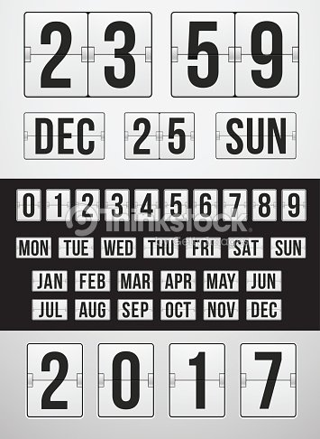 new year or christmas countdown timer vector art