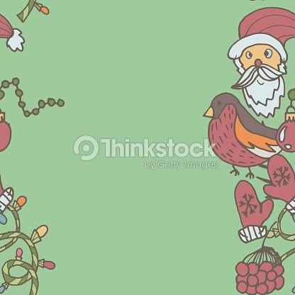 new year seamless border endless christmas template vector art