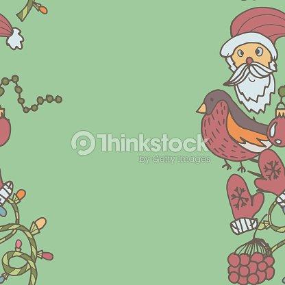 new year seamless border endless christmas template vector art