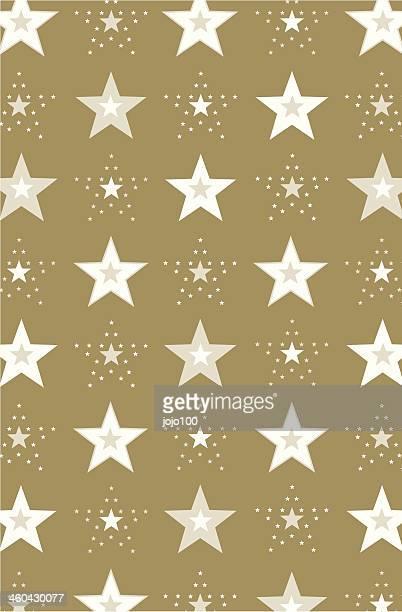New Year Stars Repeat Pattern