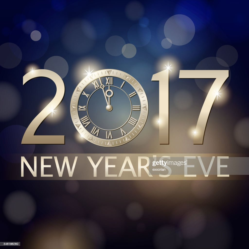 New Years Eve 2017 Countdown Background Arte vetorial ...