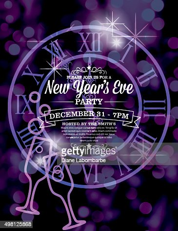New Year Invitation Template New Year Glitz Invitations New YearS - New years eve party invitation templates free