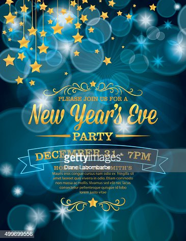 New Years Eve Party Invitation Template Vector Art  Getty Images