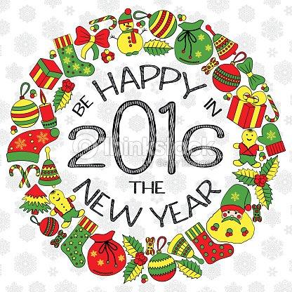 New Years Greeting Card Vector Art | Thinkstock