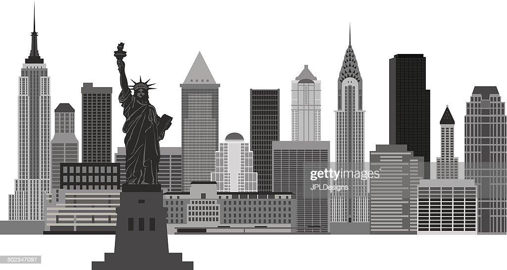 edificios de la ciudad de nueva york de ilustracin vectorial arte vectorial