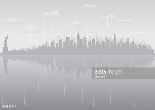 New York Rain (All Buildings are Complete and Moveable)