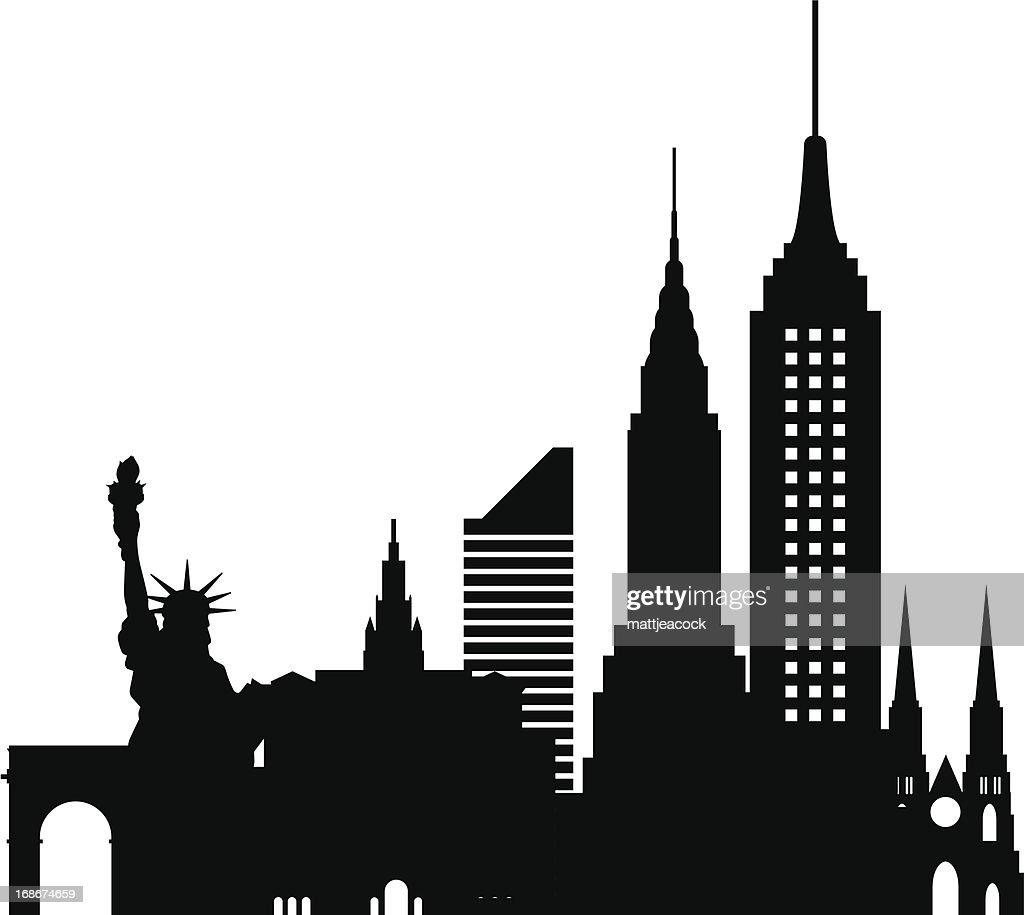 edificios de nueva york arte vectorial