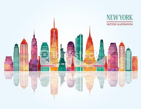 New York Skyline Vector Illustration Stock Vector Thinkstock
