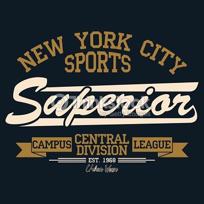 New York Sport Wear Typography Emblem Tshirt Stamp Graphics Vintage ... 31c5ca1ef