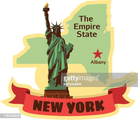 New york state luggage label or travel sticker vector art getty images - Stickers geant new york ...