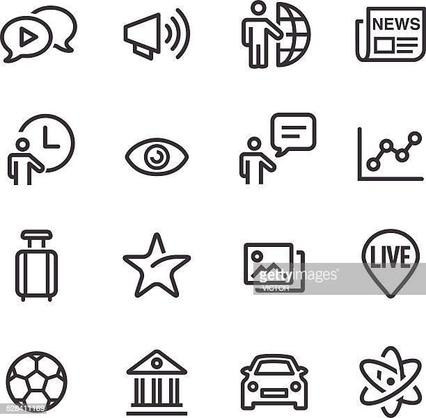 News Kategorie Icons-Line Serie