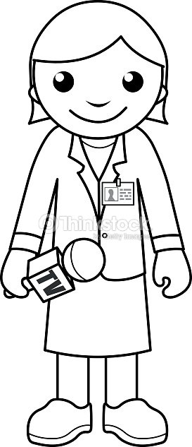news reporter coloring page for kids stock vector thinkstock. Black Bedroom Furniture Sets. Home Design Ideas