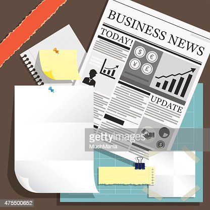 Newspaper And Blank Paper Object Background Vector Art Thinkstock