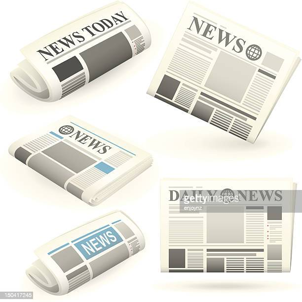 Newspaper icons