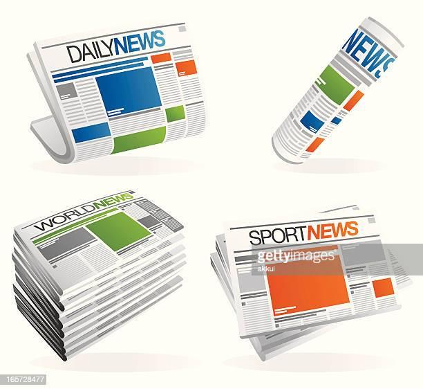 Newspaper set - grey