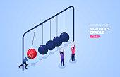 Newton pendulum, making money without stopping
