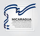 Nicaragua, country, flag, vector, icon