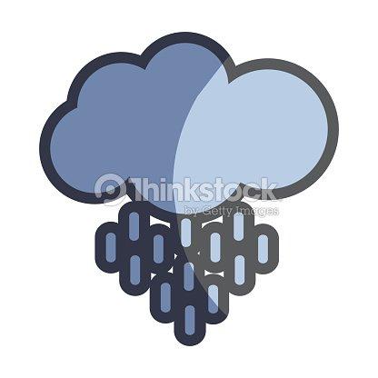 Nice cloud and rain weather icon