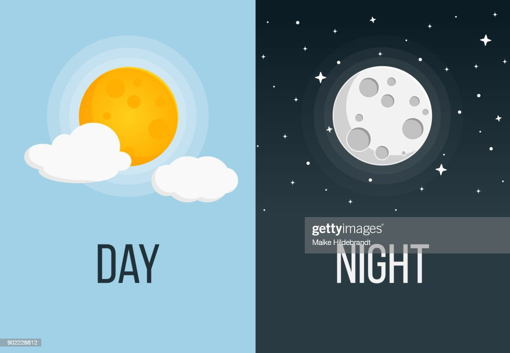 night and day flat design stock vector thinkstock rh thinkstockphotos ae design of night club design of night