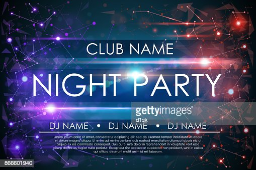 Night party poster : stock vector