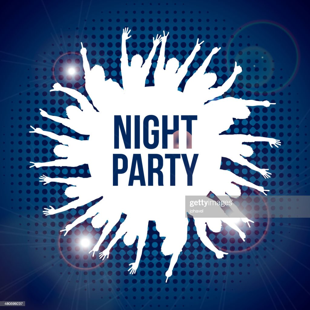 night party : Vector Art