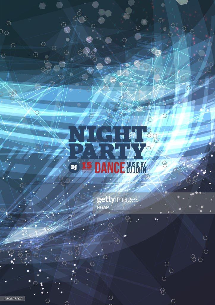 Nacht party Vektor : Vektorgrafik