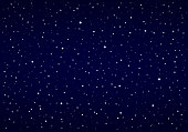 Night Sky, Snow, Stars
