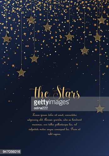Night sky with stars : Vector Art