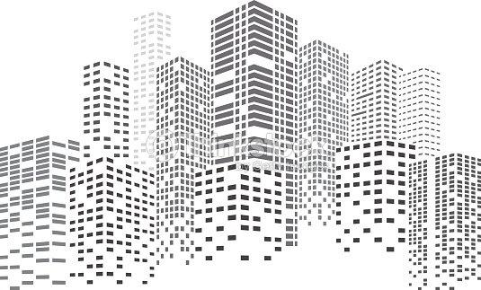 Night Skyscrapers City : arte vetorial