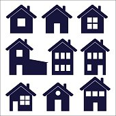a set of house icons – vector illustration