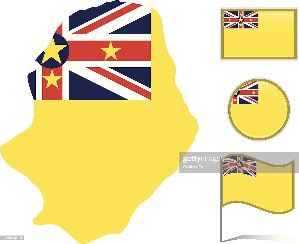 Niue Map Flag Vector Art Getty Images - Niue map