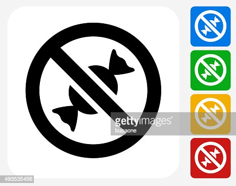 No Candy Allowed Icon Flat Graphic Design Vector Art ...