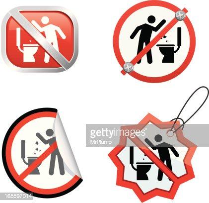 No garbage in the toilet   Vector Art. No Garbage In The Toilet Vector Art   Getty Images