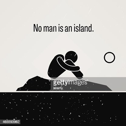 No Man is an Island : Vector Art