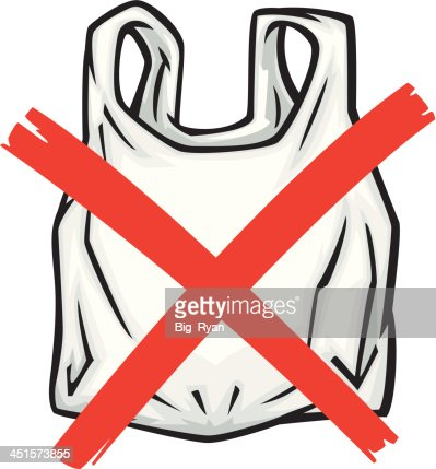 no plastic bags vector getty images