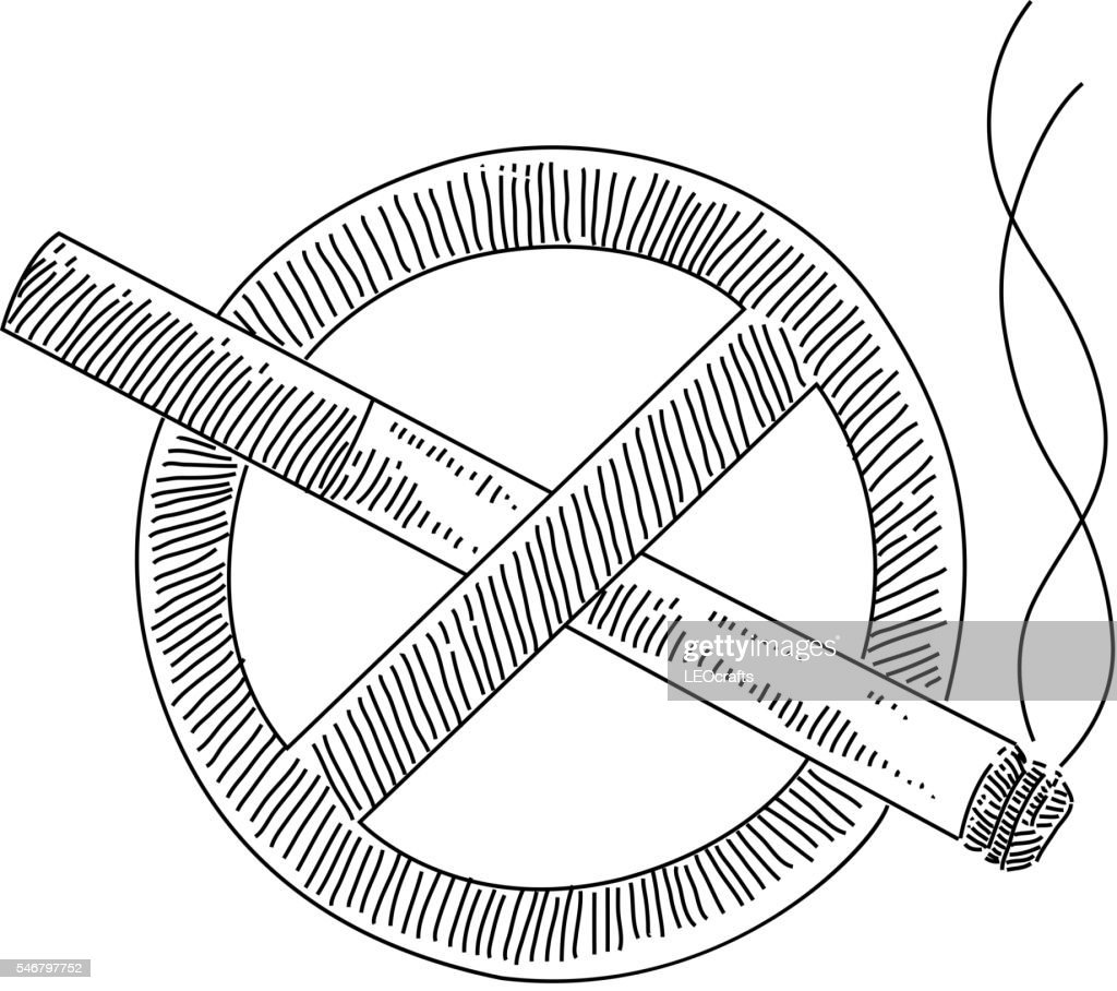 no smoking sign drawing vector art getty images
