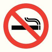 No smoking sign. Prohibited symbol isolated on white background