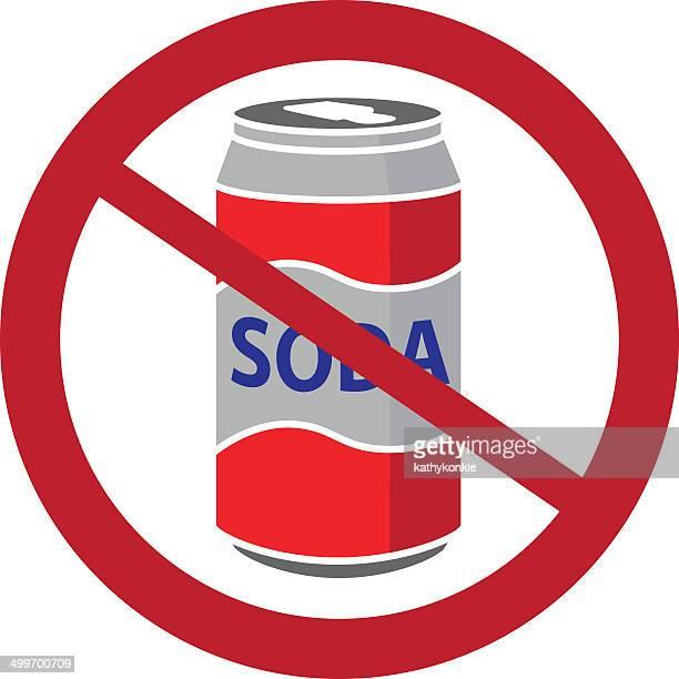 no soda cans symbol