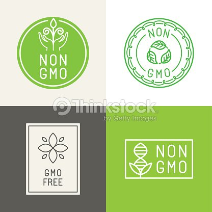 Non Gmo Natural Ingridients Labels And Emblems Vector Art Thinkstock
