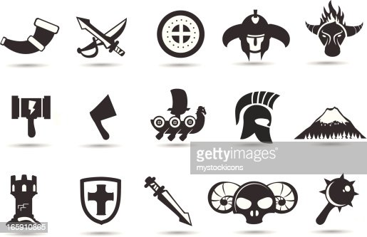 Norse Viking Icons Vector Art | Getty Images