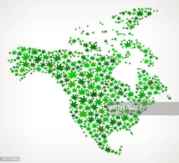 North America Map royalty free vector Marijuana Leaves Weed graphic