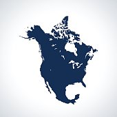 vector map of the North America.